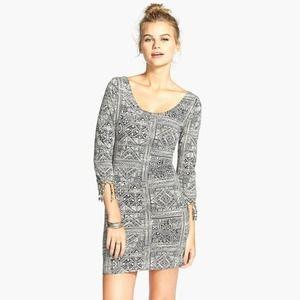 Billabong For The Love Geo Print Fringe Mini Dress